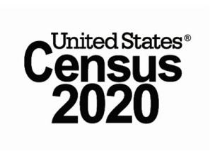 Graphic that spells Census 2020