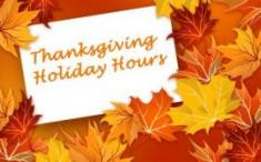 Thanksgiving Hours Image