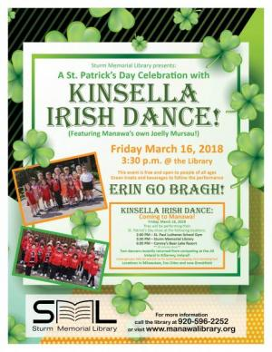 Image of Kinsella Irish Dance Poster